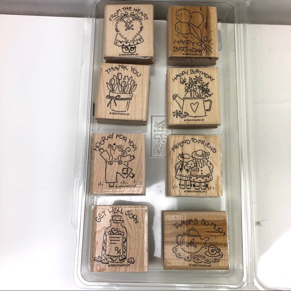 Stampin' Up 8 piece Stamp Set Nice and Easy Notes